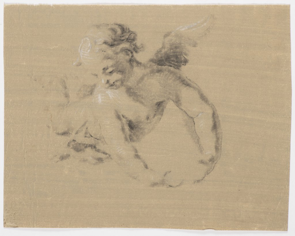 JOSEF NAVRÁTIL 1798 - 1865: A STUDY OF CUPIDS Second third of 19th century Charcoal and white - Image 2 of 2