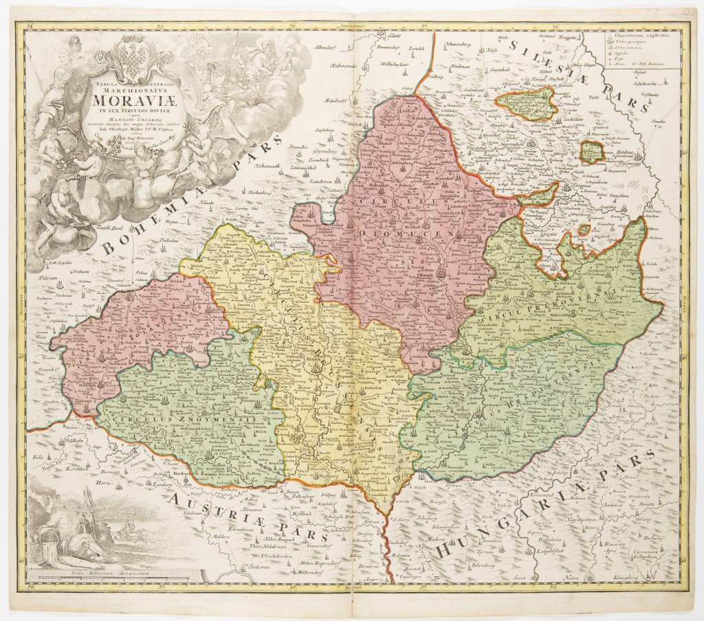 JAN KRYŠTOF MÜLLER 1673 - 1721: A GROUP OF TWO MAPS Ca. 1720 Two separate maps, colored copper - Image 2 of 2