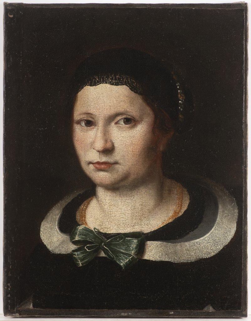 KAREL ŠKRÉTA 1610 - 1674: A PORTRAIT OF A LADY After 1650 Oil on canvas 47 x 36,5 cm This painting
