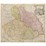 JAN KRYŠTOF MÜLLER 1673 - 1721: A GROUP OF TWO MAPS Ca. 1720 Two separate maps, colored copper