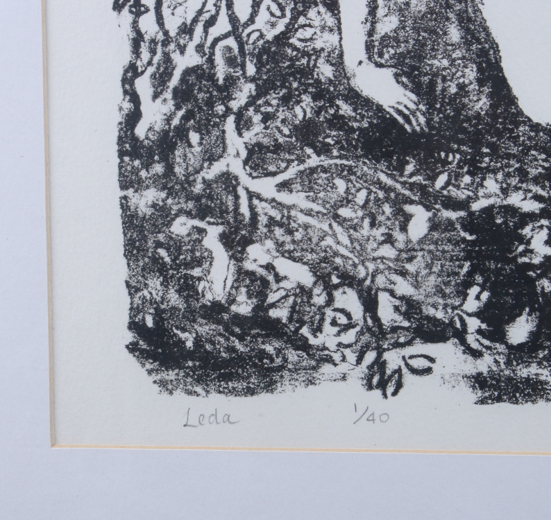 "Lot 313 - Martin Dace, 2002: a signed limited edition lithograph, ""Leda"", 1/40"