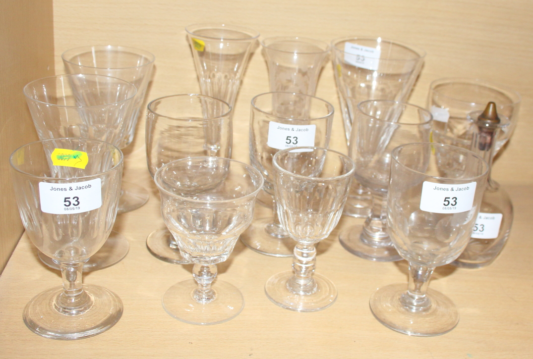 Lot 20 - A collection of 19th and early 20th century drinking glasses, various