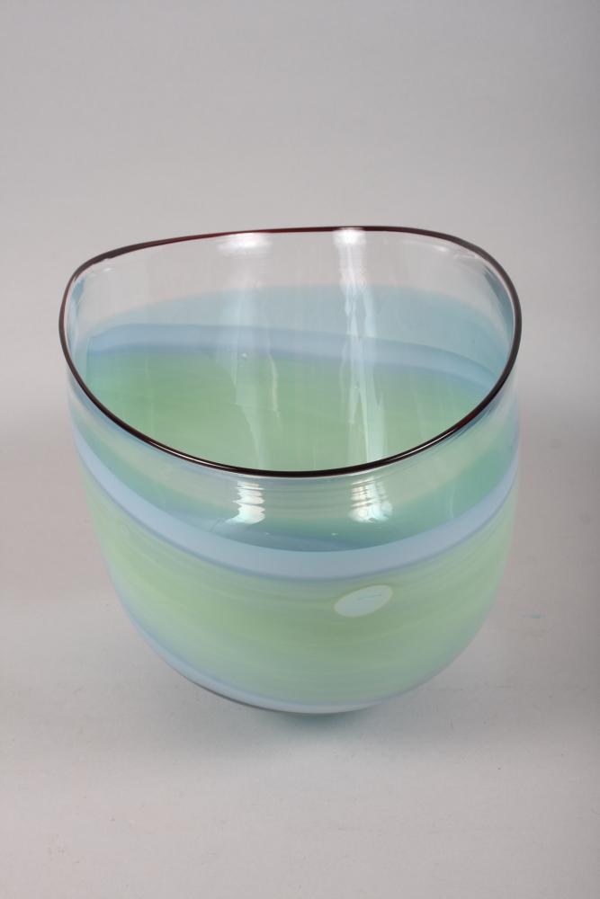 """Lot 23 - Annette Meech 1011 - The Glasshouse 1984, a studio glass vase, 9"""" high"""