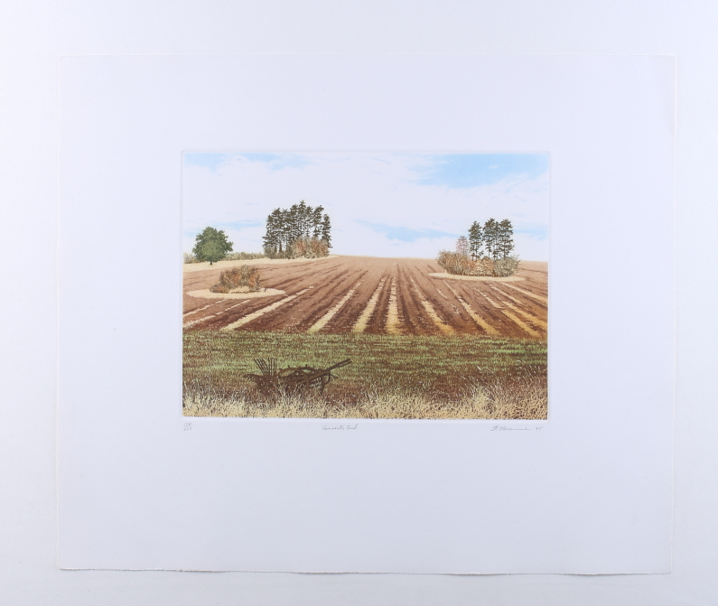 "Lot 333 - Three limited edition prints, Robin Hood's Bay North and South and ""Harvests End"", mounted and"