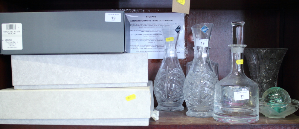"Lot 19 - A boxed set of two Waterford ""The Millennium Collection, Toast of the Year"", champagne flutes, a"