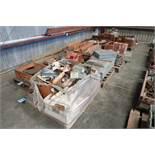 (LOT) (12) SKIDS MISC. PARTS & TOOLING, ELECTRICAL BOXES & MISC.