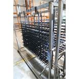 6' W ANODIZING LINE PART RACK WITH CART