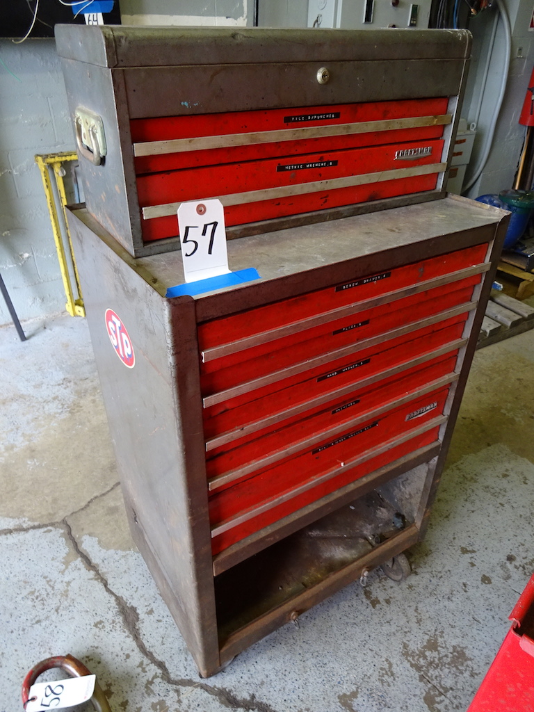 Lot 57 - CRAFTSMAN STACKING TOOL BOX