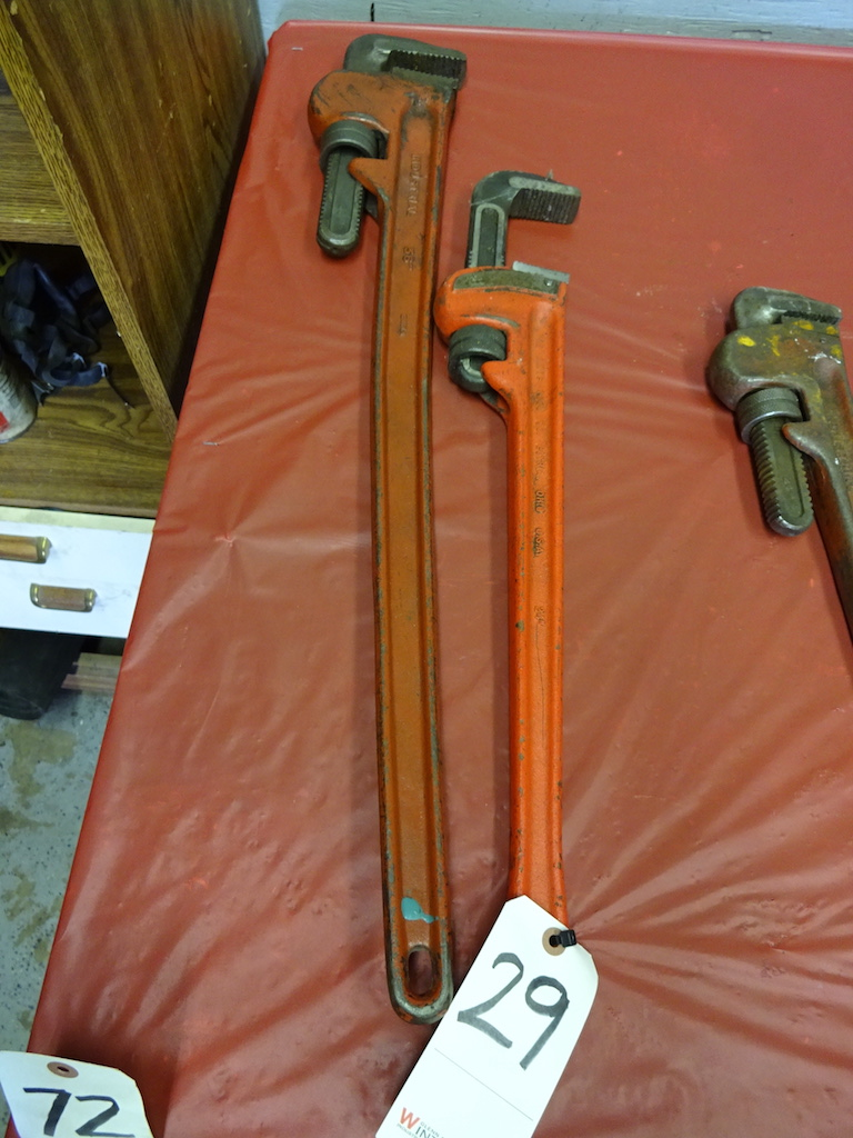 "Lot 29 - LOT: 36"" AND 24"" PIPE WRENCHES"