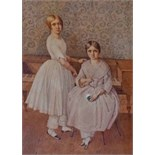 Lot 117 - 19TH CENTURY IRISH SCHOOL, Portrait of Two Young Girls by a Spinnet, W.C.