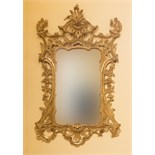 Lot 120 - A FINE RARE 18TH CENTURY CARVED IRISH GILTWOOD WALL MIRROR,
