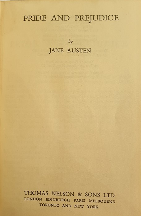 Lot 18 - Austen, Jane  Thomas Nelson & Sons, 4 uniform vols, cream vellum with green pastedowns to title