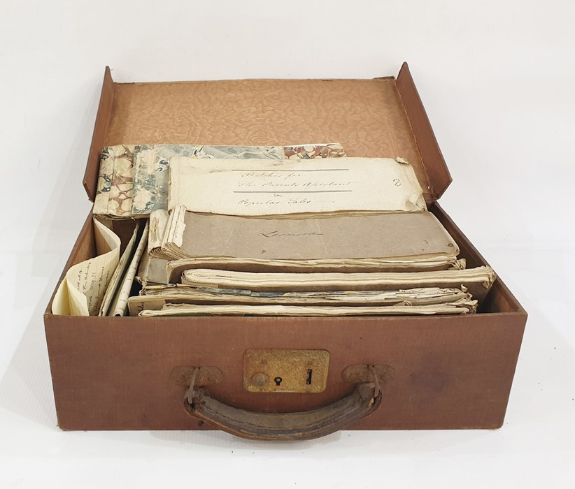 Lot 33 - Maria Edgeworth Large quantity of sketchbooks/notebooks believed being notes for various of her