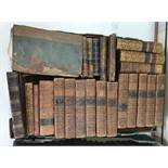 Quantity of antiquarian volumes and find bindings (1 box)