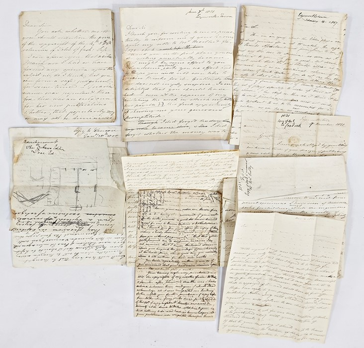 Lot 36 - Quantity of letters, Maria Edgeworth -some possibly copies of letters to various people, dates