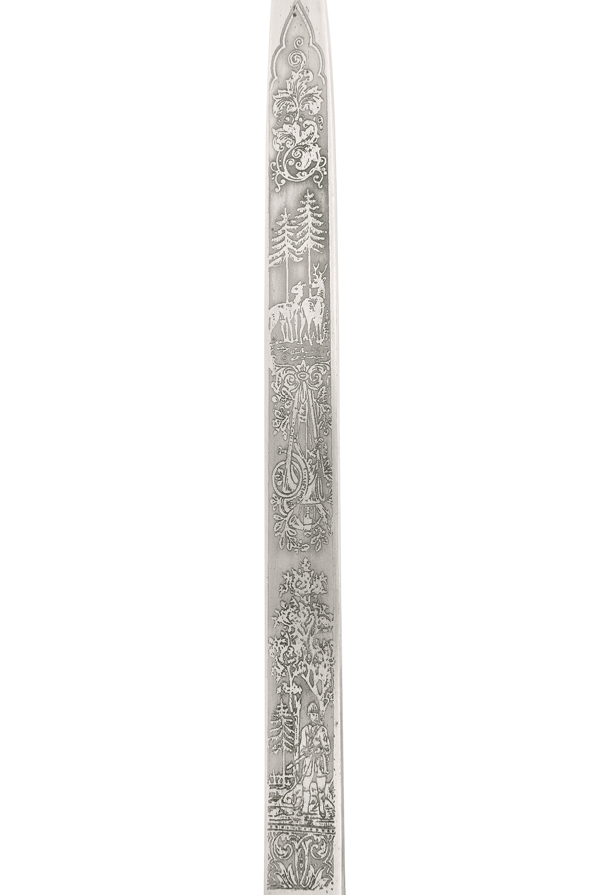 Lot 210 - CARL EICKHORN, SOLINGEN A GERMAN HUNTING ASSOCIATION HANGER WITH ETCHED BLADE, possibly mid 1930s,