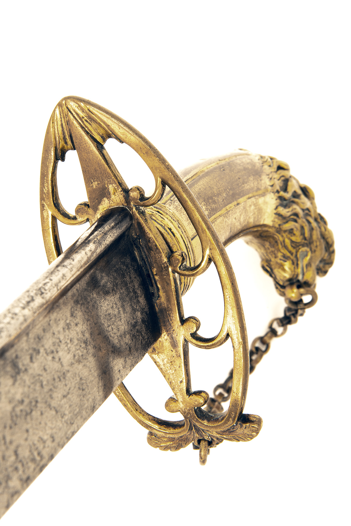 Lot 205 - A BRITISH FLANK OFFICER'S SABRE WITH PIPE-BACKED BLADE circa 1785, with curved 29 1/2in. quill-
