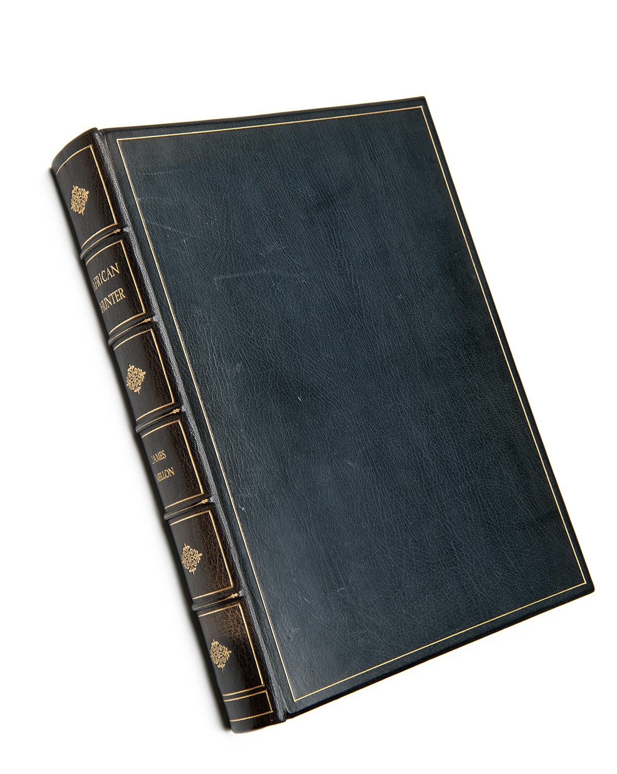 Lot 1 - JAMES MELLON 'AFRICAN HUNTER' 1st Edition custom leather bound to museum standard by Sangorski &
