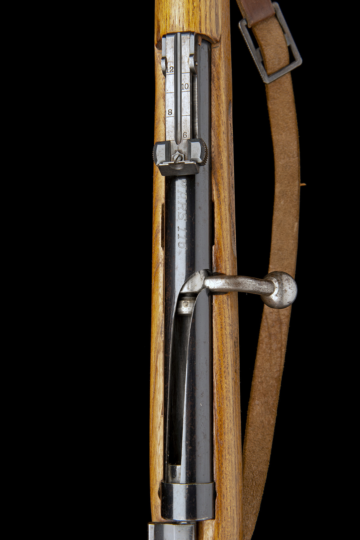 Lot 107 - A 4.4mm (BB) REPEATING AIR-RIFLE SIGNED MARS, MODEL '115 MILITARY TRAINER', serial no. 841155, circa