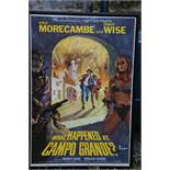 "Eric & Ernie: Framed Original 1970's cinema poster ""What Happened at Capo Grande?"" (42 x 29 inches)"
