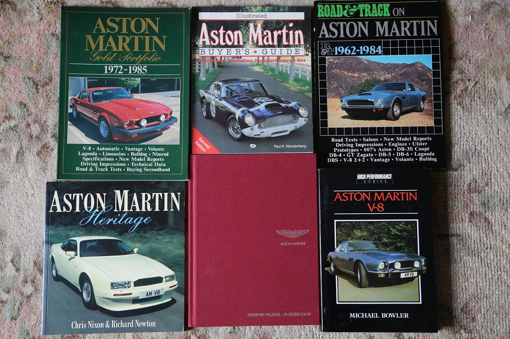 6 further Aston Martin titles from the library of a motoring enthusiast.