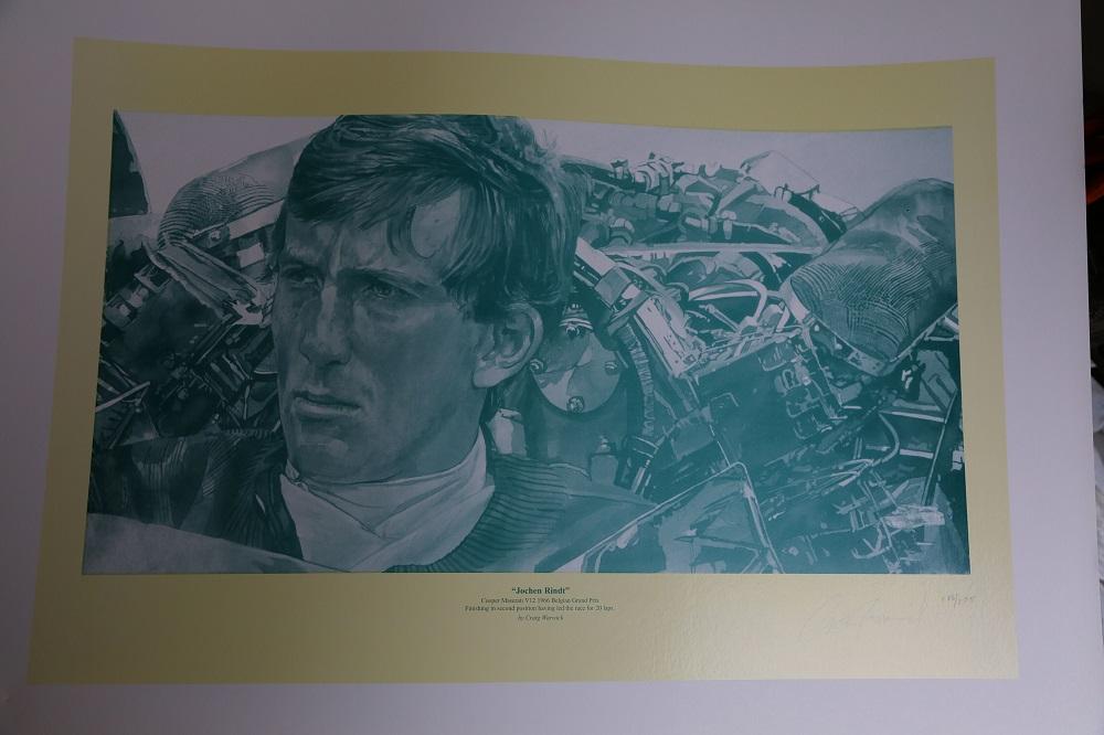 "Lot 44 - Craig Warwick: ""Jochen Rindt"" - ready to frame"
