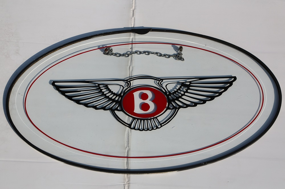 Lot 23 - Bentley: Large Modern Showroom Sign - 28 inches in diameter