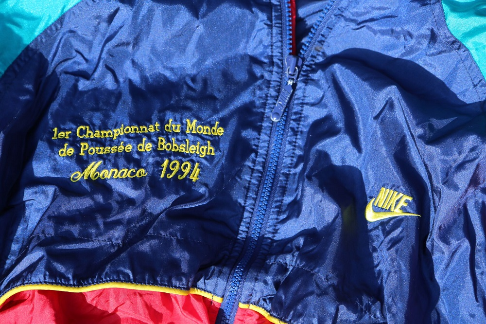 Lot 15 - HRH Prince Albert of Monaco: Nike Winter Jacket embroidered with Monaco Bobsleigh team insignia from