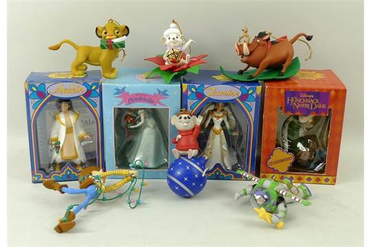 A collection of Grolier Disney and animated film character Christmas ...