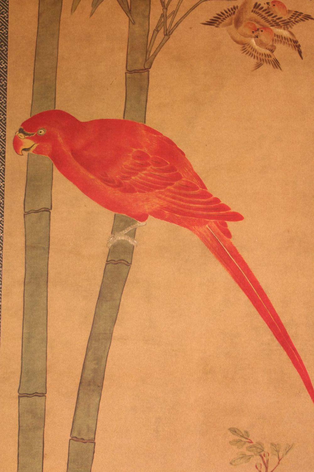 A 20TH CENTURY CHINESE PRINTED HANGING SCROLL PICTURE, depicting pheasants and other birds, 150cm - Image 2 of 4