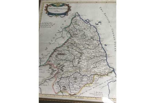 Antique Map Of The East Rıdıng Northumberland Ebay