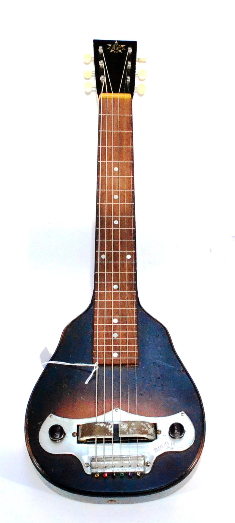 A 1930s Vega Lapsteel Guitar, one-piece construction with