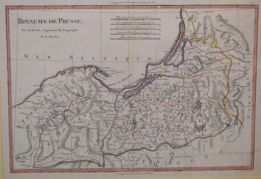 Lot 75 - Hungary. A Rigobert Bonne tinted map, Royaume De Hongrie, mounted, 25 x 36 cm, another, Isles De