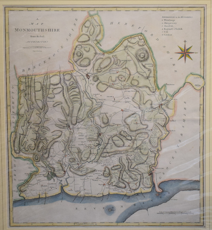 Lot 65 - Yorkshire. A John Cary coloured map, A Map of the South part of the West Riding of Yorkshire, From