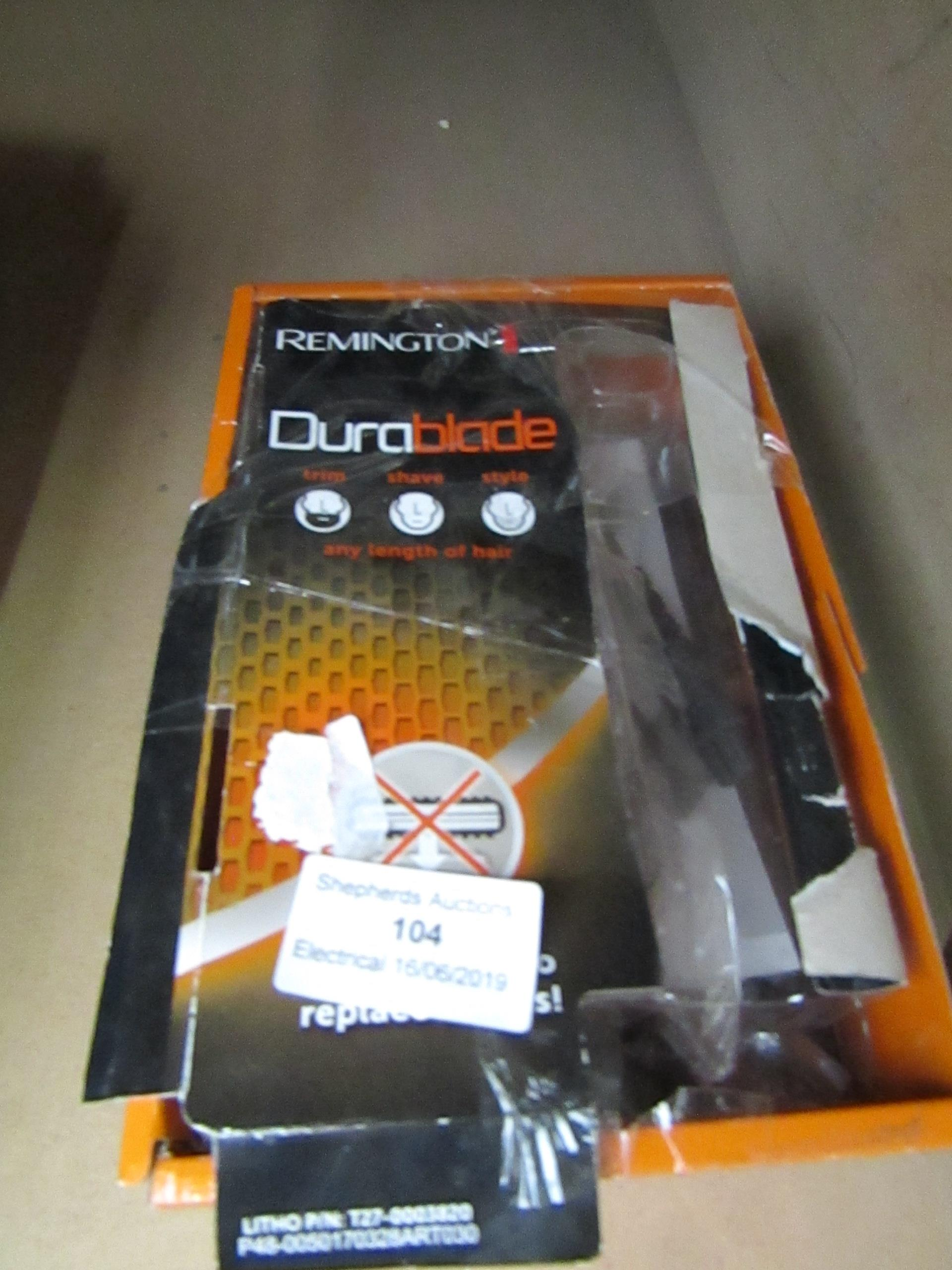 Lot 104 - Remington DuraBlade beard trimmer, untested and boxed.