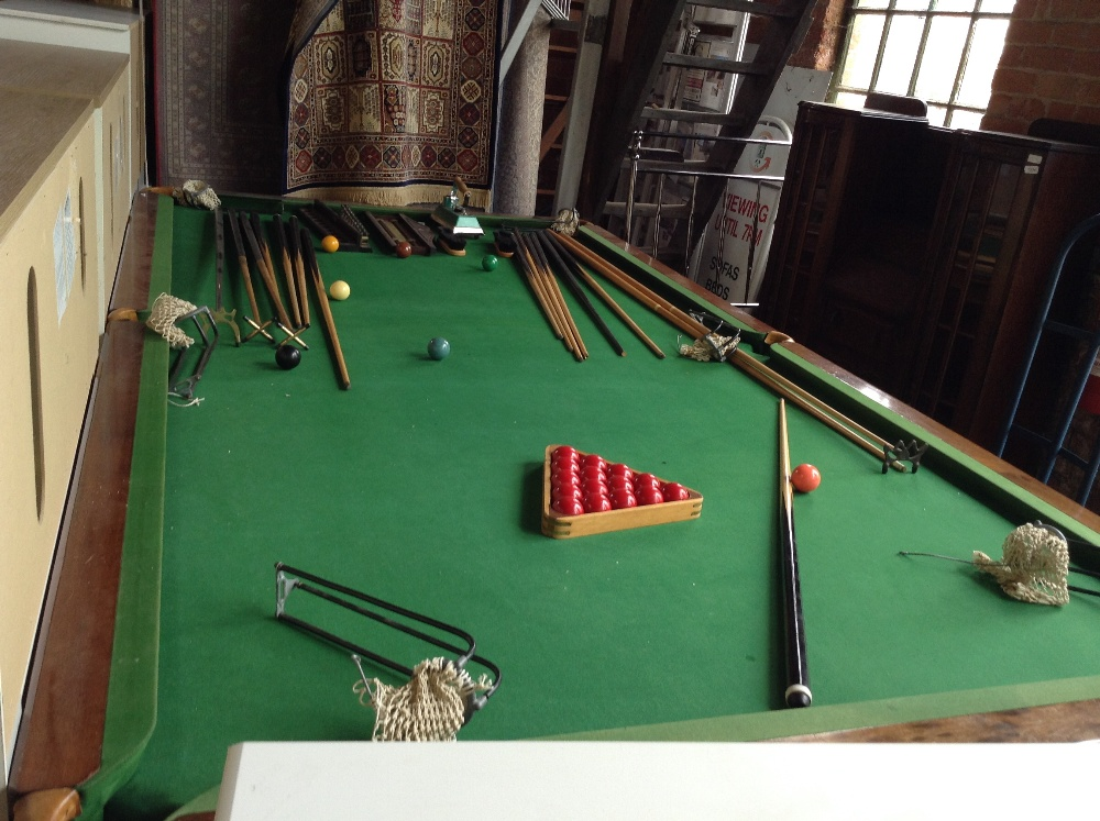 Snooker table 7 8th full size collection only delivery for 1 4 size snooker table
