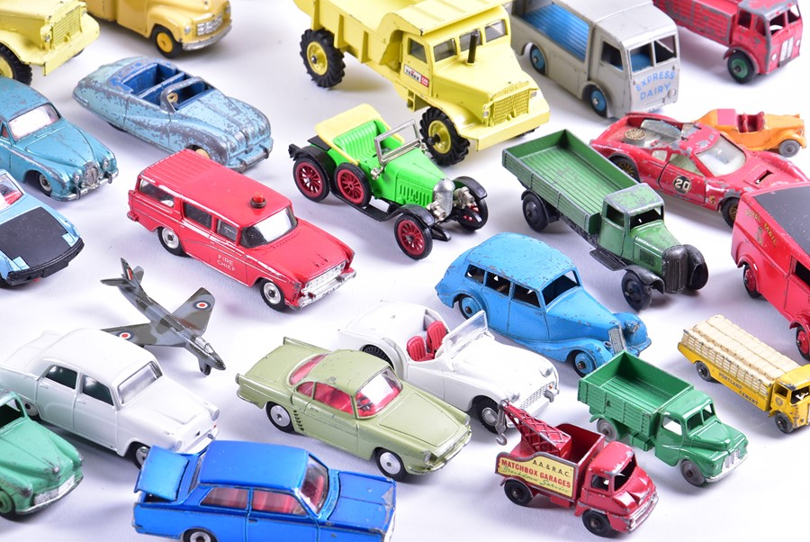 Lot 54 - A good collection of mid-20th century loose and playworn Dinky diecast vehicles to include UFO