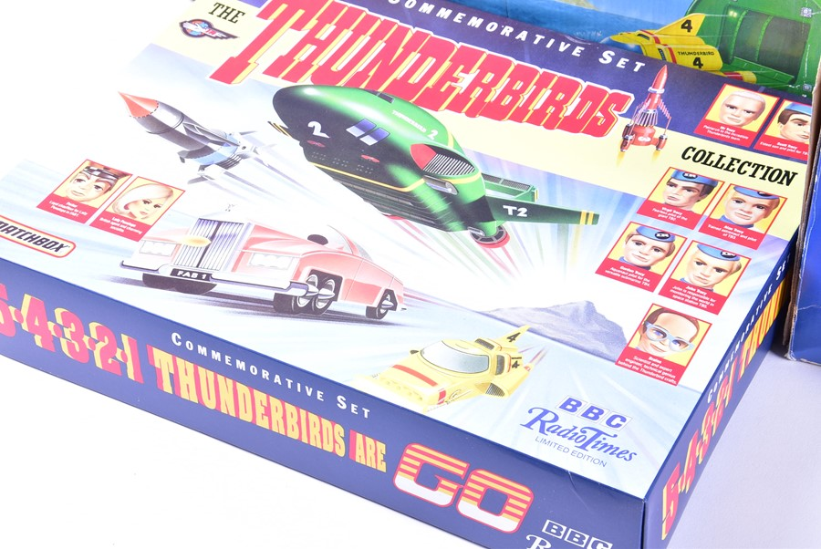 Lot 68 - Matchbox Thunderbirds: three boxed assorted 'Tracy Island' Electronic Playsets together with a loose