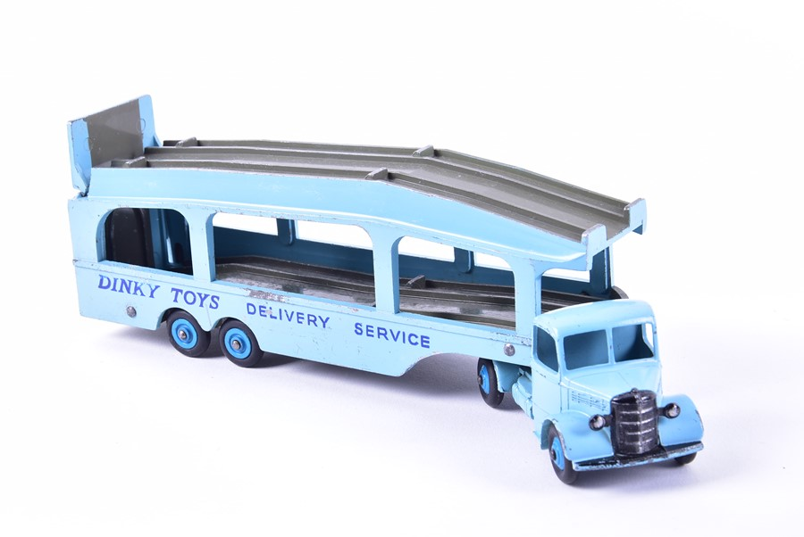 Lot 51 - A boxed Dinky Supertoys 982 Pullmore Car Transporter with loading ramp together with a further loose
