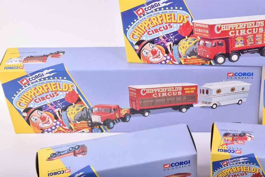 Lot 21 - A collection of nine boxed Corgi Classics Chipperfield Circus vehicle sets comprising: 97885