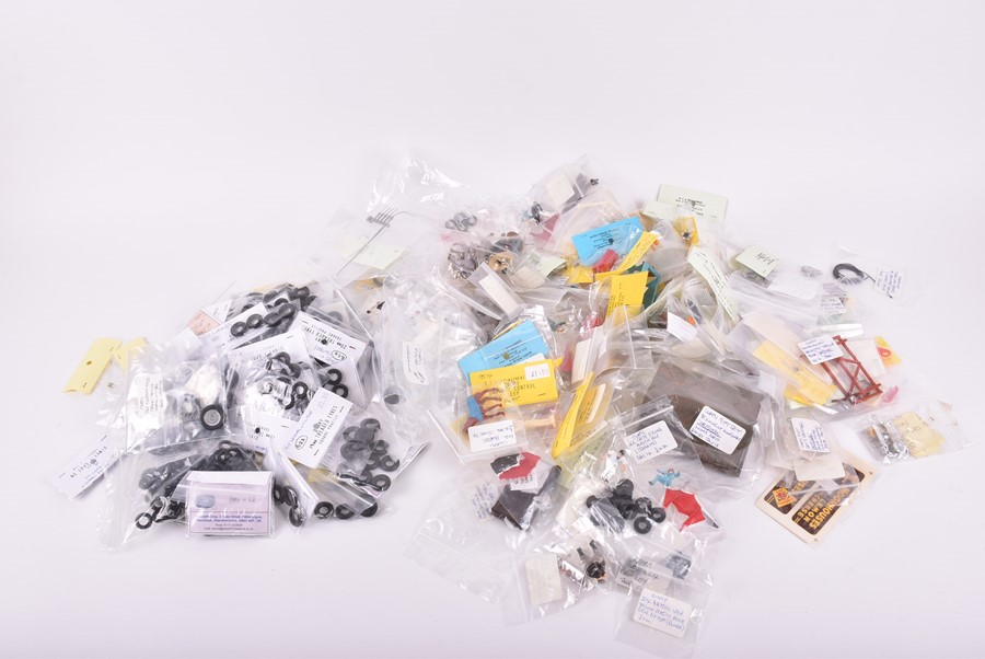 Lot 18 - A large quantity of Dinky, Corgi and other diecast vehicle spare tyres many in labelled ex-shop
