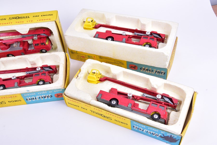 Lot 77 - Six Corgi Major Toys 1127 Simon Snorkel Fire Engines in boxes. (6)CONDITION REPORTAll appear in