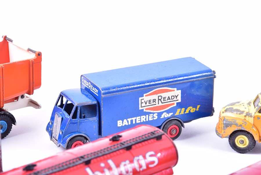 Lot 69 - A collection of loose and playworn vintage Dinky diecast vehicles to include three 'Esso' Leyland