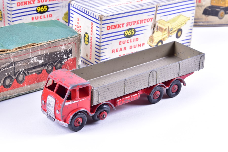 Lot 74 - Six boxed vintage Dinky Toys diecast vehicles comprising 965 Euclid Rear Dump Truck (x2), 971