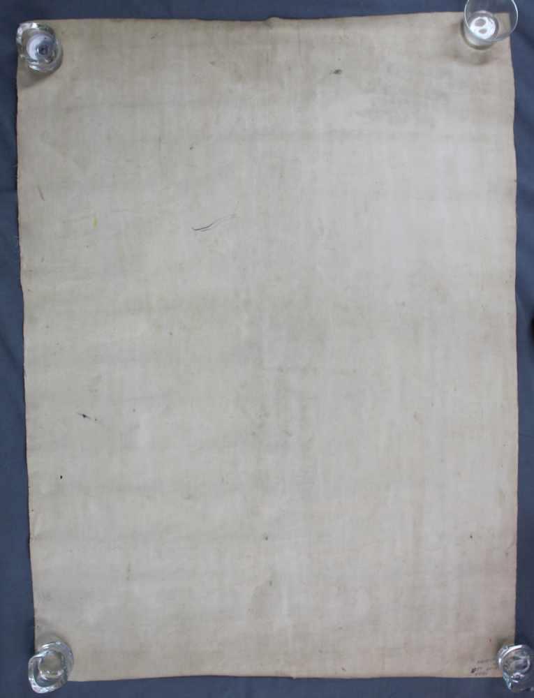 Lot 12 - Kalachakra Mandala, China / Tibet alt.95,5 cm x 79 cm. Gemälde.Kalachakra Mandala, China / Tibet