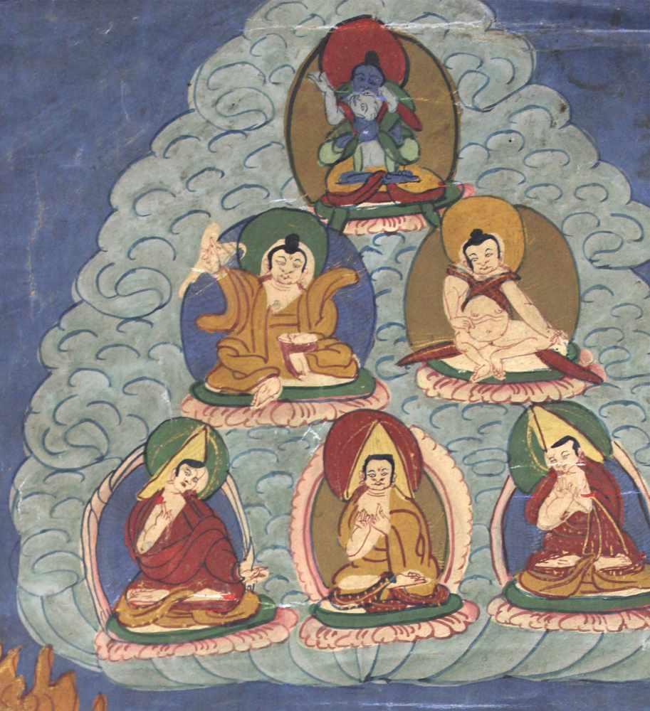 Lot 24 - Cri Chakrasamvara ? Thangka, China / Tibet alt.50 cm x 40 cm. Gemälde.Cri Chakrasamvara ? Thangka,