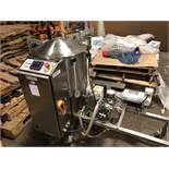 Savage/Woody 125-lb stainless steel chocolate melter with pump - jacketed and agitated, electrically