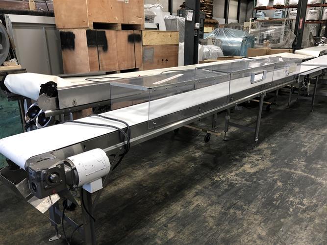 "Dorner 16"" wide x 20-ft Long Stainless Steel Conveyor"