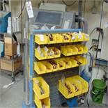 (Lot) Copper, S.S. & Steel Fittings w/ Portable Rack