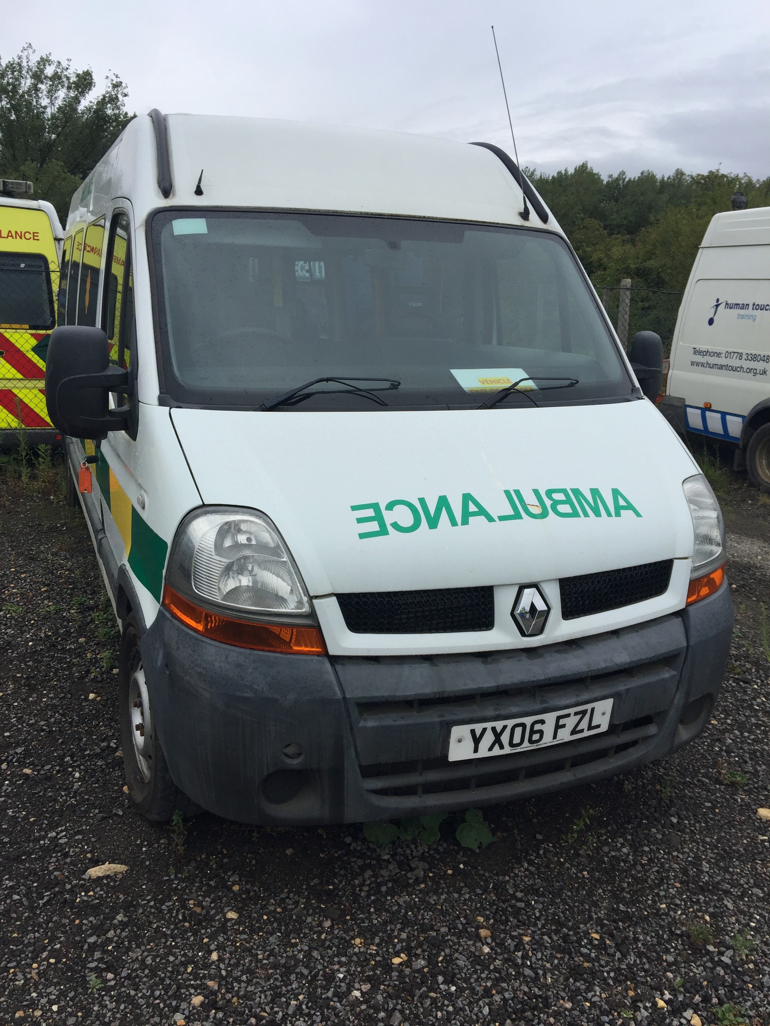 Lot 10 - Renault Master standard body patient transfer ambulance Registration No YX06 XZL, recorded miles